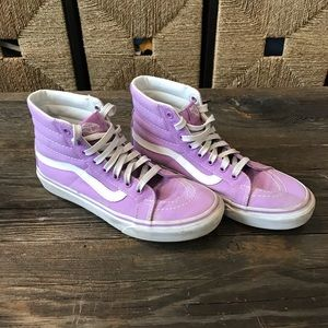 Lavender/ purple high top vans